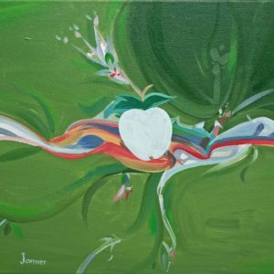 Green Eye, White Apple Series